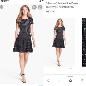 DVF wool dress